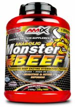 Amix Anabolic Monster BEEF 90% Protein, strawberry-banana, 1000g